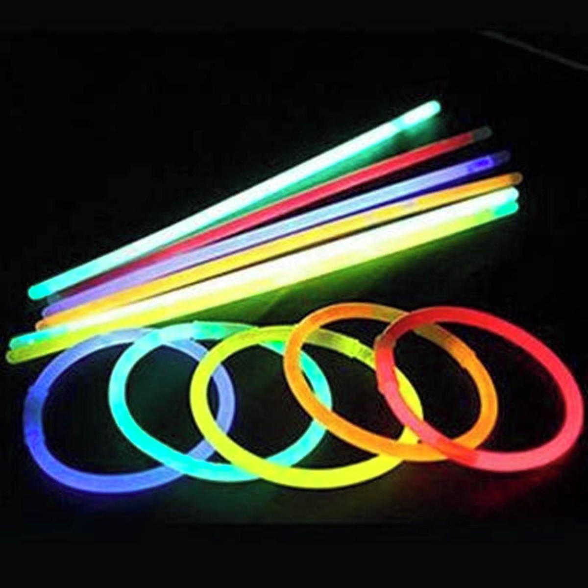 Pulseira Neon Para Festas C/100