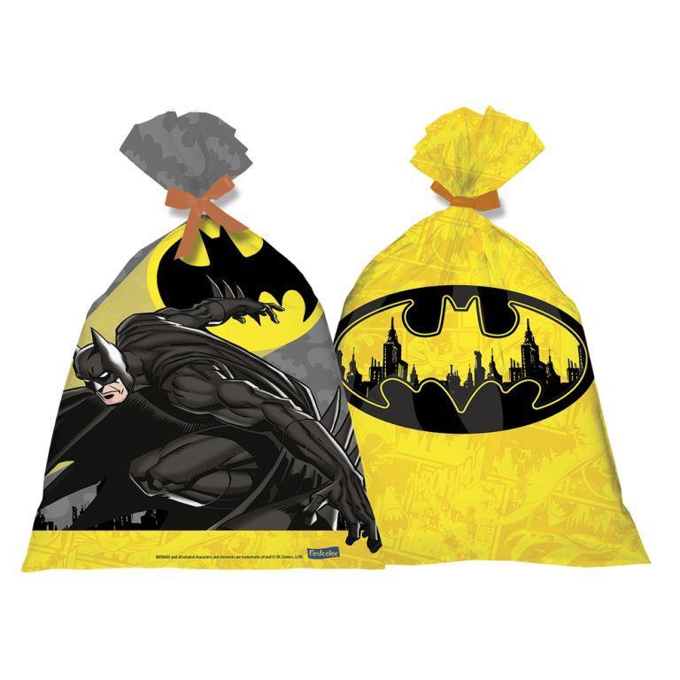 Sacola Plástica  14,5Cm X 25Cm Batman