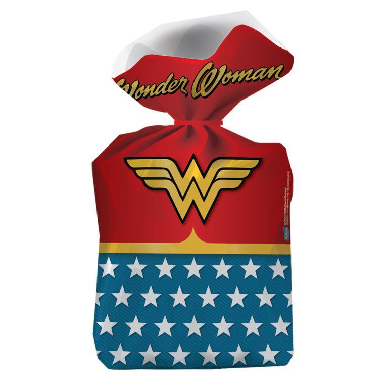 Sacola Plástica 14,5Cm X 25Cm Wonder Woman