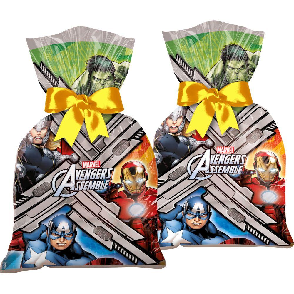 Sacola Plástica 14Cm X 27Cm Avengers