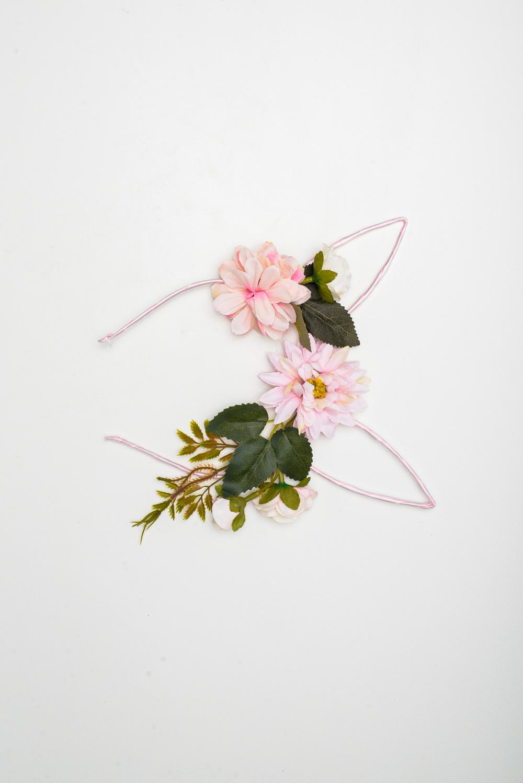 Tiara para Páscoa Com Flor