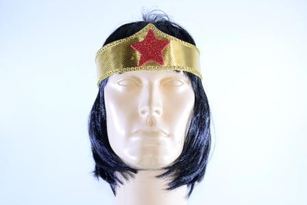 Tiara Super Heroína Dourada