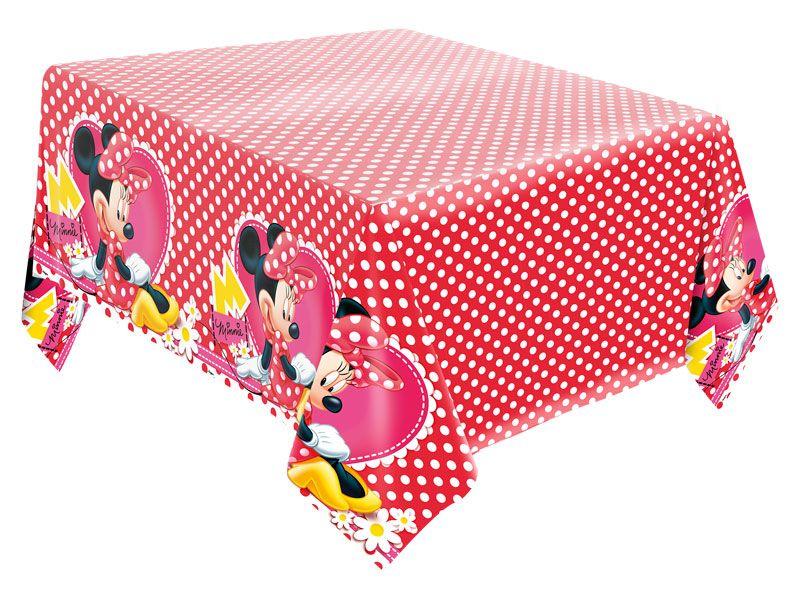 Toalha De Mesa 2,20M X 1,20M Red Minnie