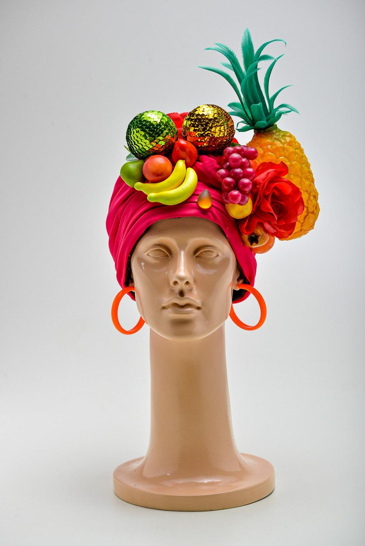 Turbante Bahiana C/ Frutas E Flores
