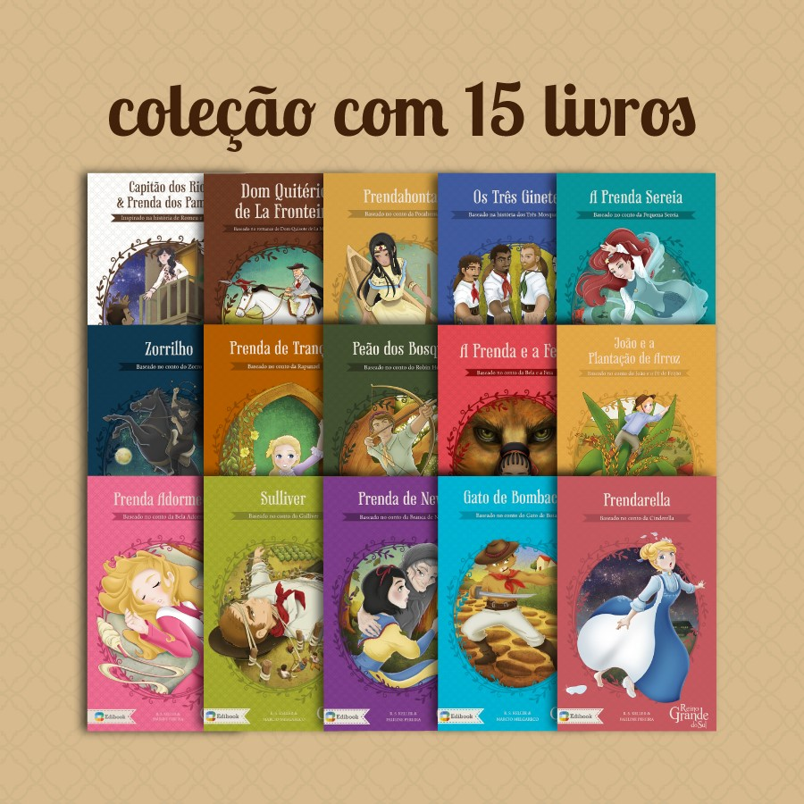 COLEÇÃO COMPLETA PRENDAS E PEÕES - 15 LIVROS