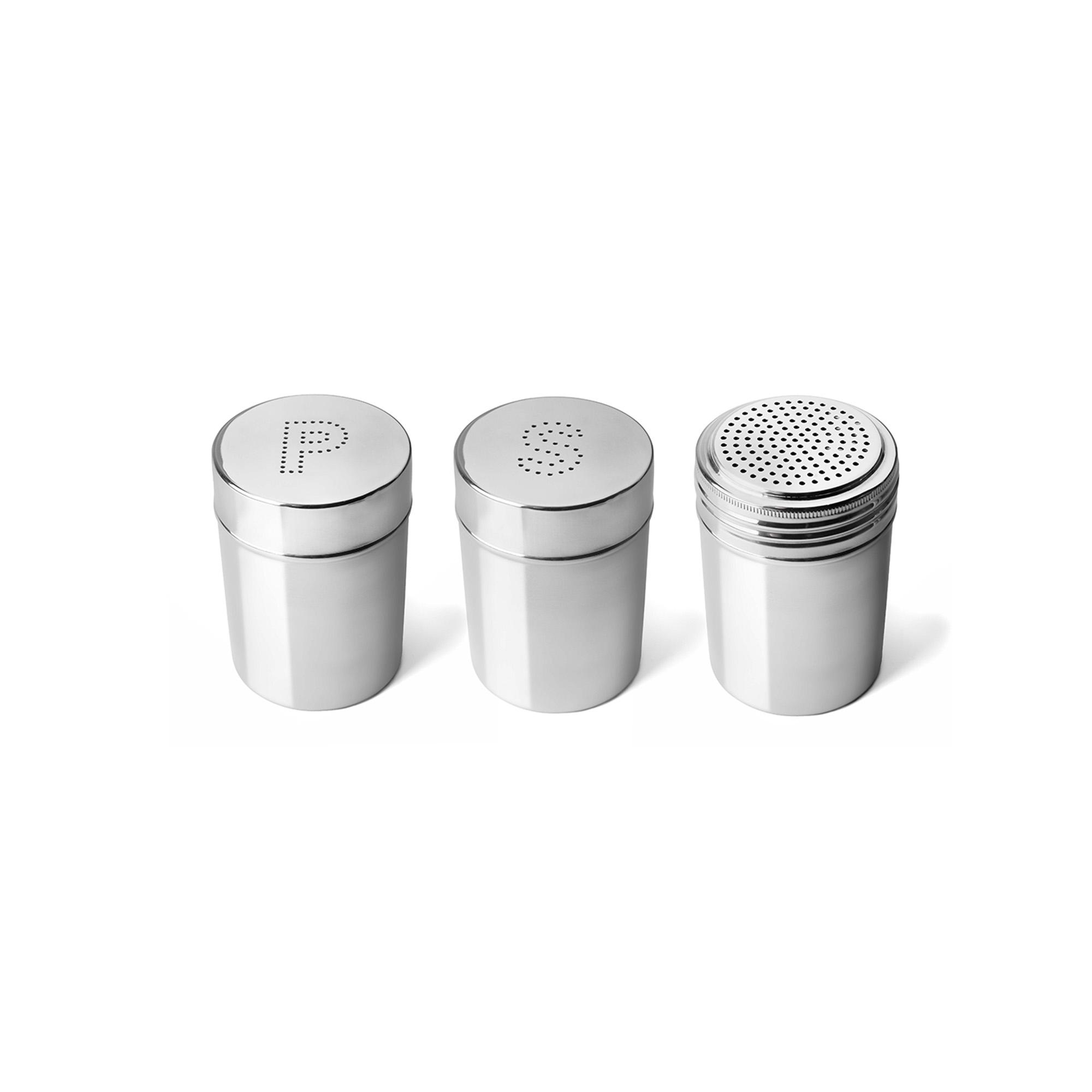 Conjunto para Temperos 3 peças Sal, Pimenta 320ml Inox Attuale