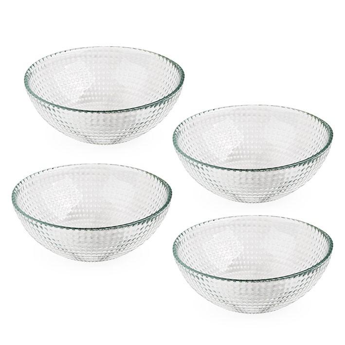 Kit 4 Bowls com Textura 400ML - Vidro