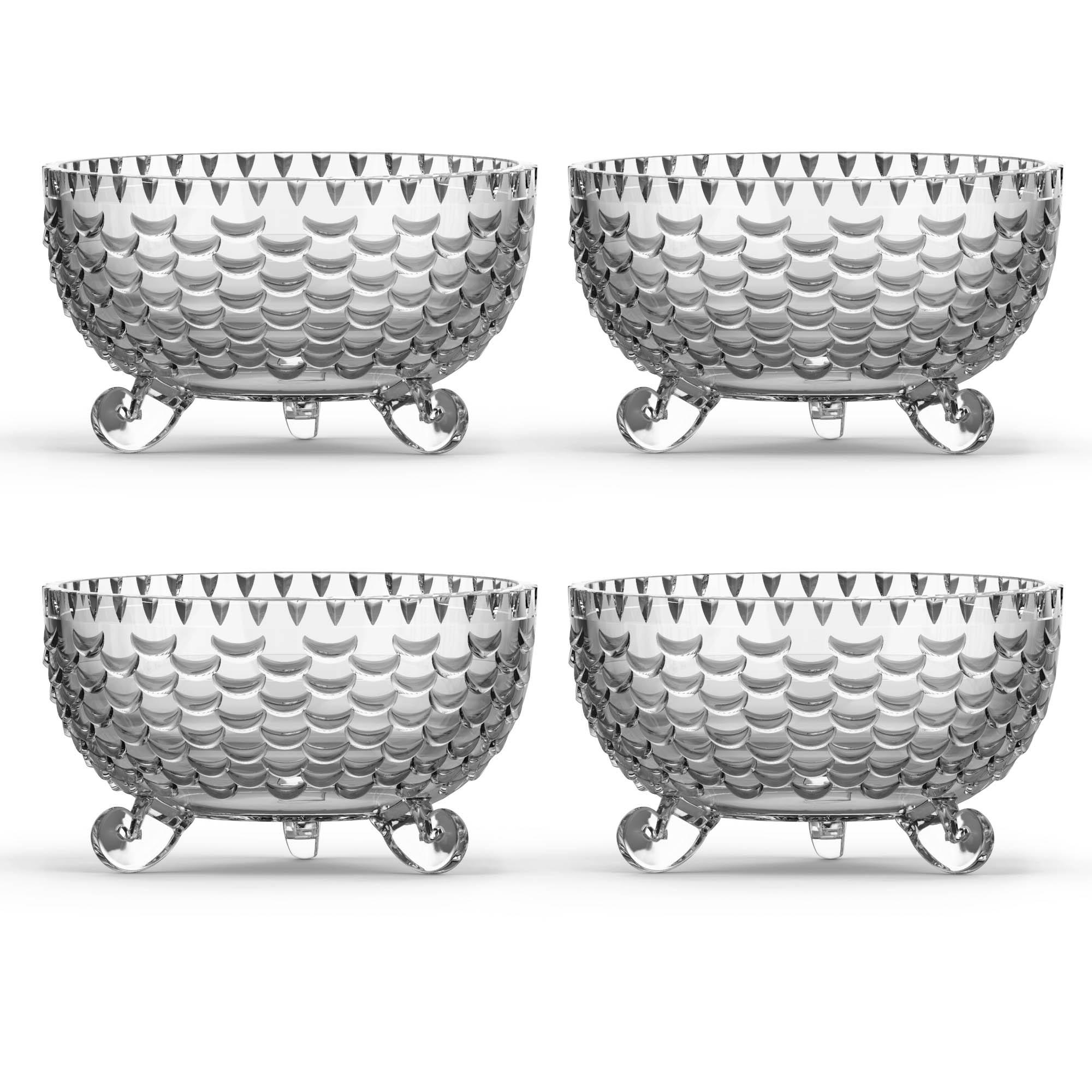 Kit 4 Bowls Diamante 230ml - Vidro