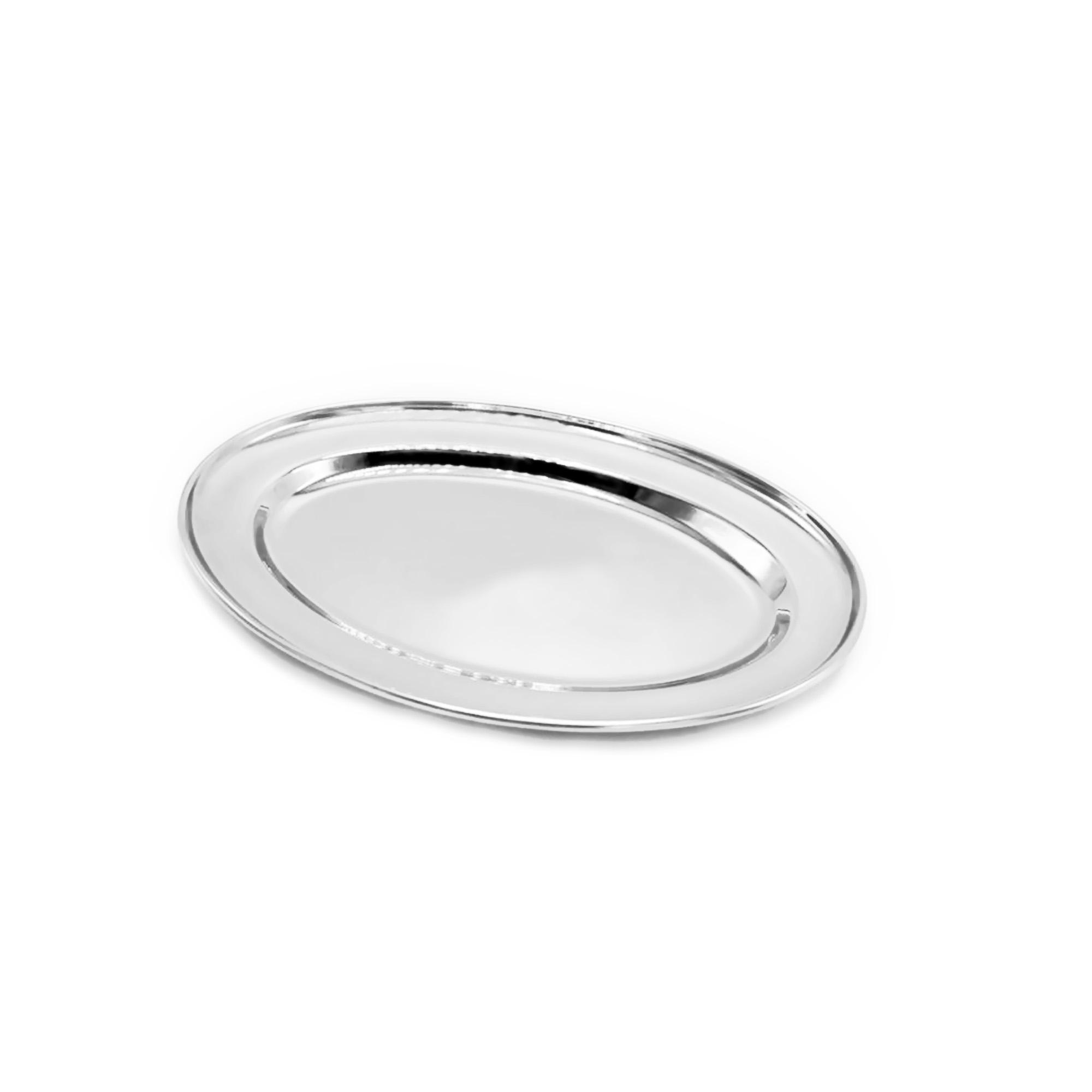 Travessa Oval Plana 25cm Inox Attuale
