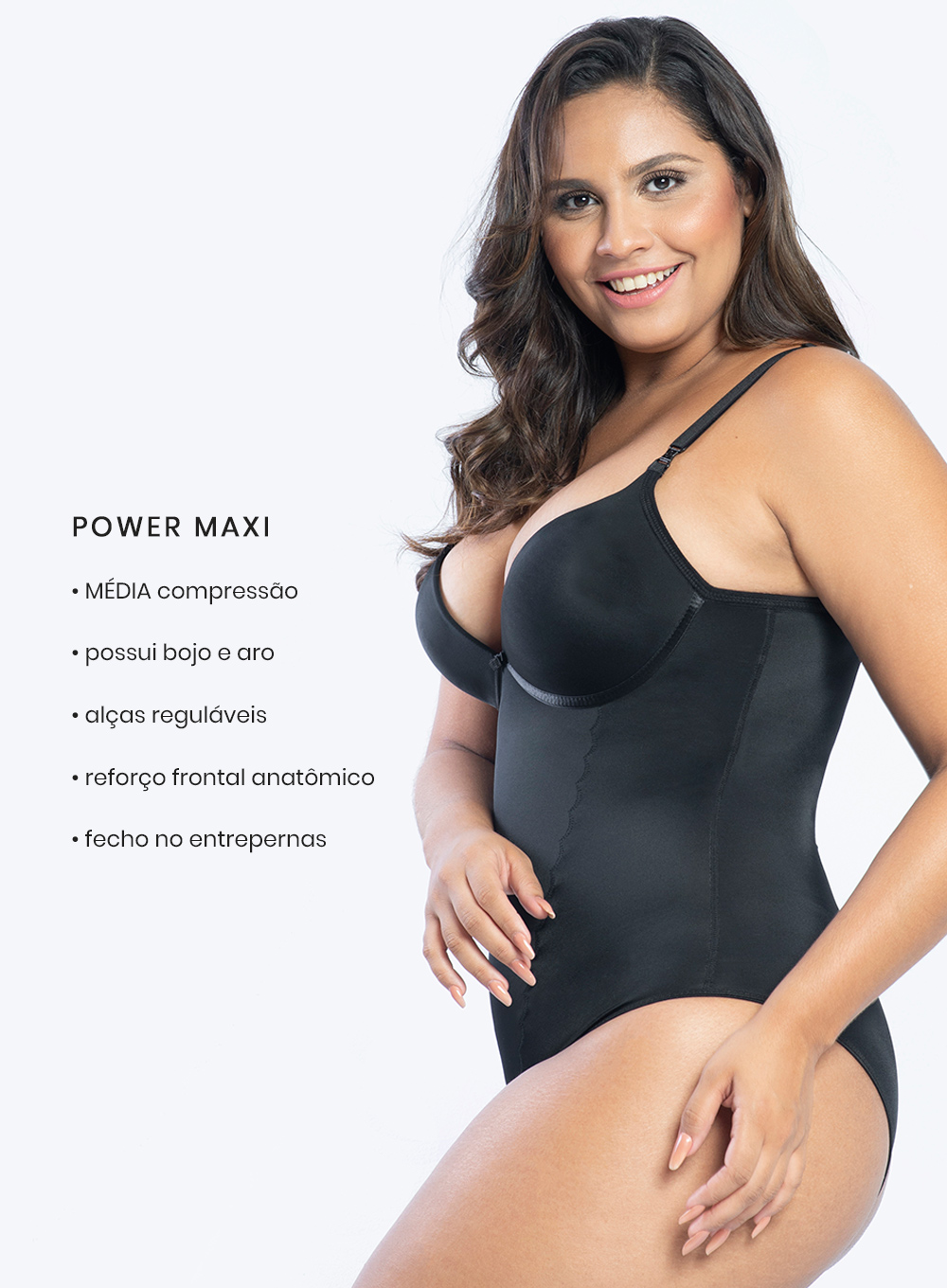 Body Modelador Power Maxi