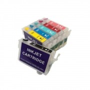 Cartucho Recarregável Jetw R270 R290 R390 RX590 RX610 T50 TX650 TX700W TX710W TX720WD TX730WD TX800FW TX810FW Para Epson