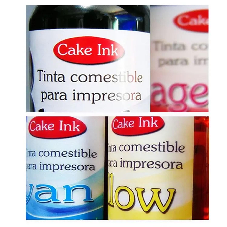4 x 500ml Tinta Comestível Arroz para Impressora Epson Canon Hp