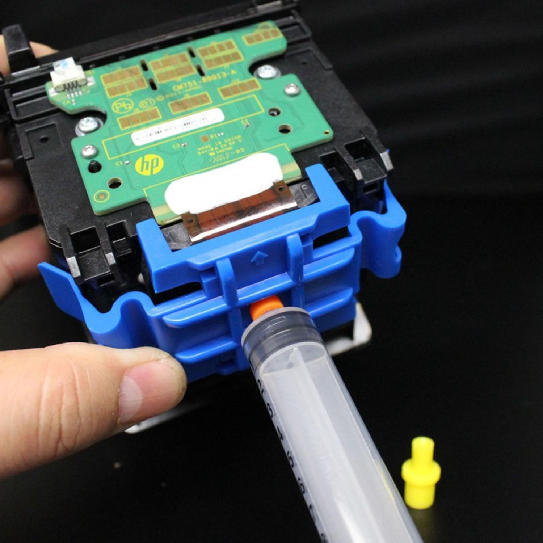 Kit 1 litro Solução Limpeza Aplicador Cleaner Cabeças Bulk Cartuchos Tinta