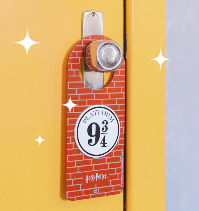 Aviso de porta Harry Potter - Plataforma 9 3/4 (oficial)