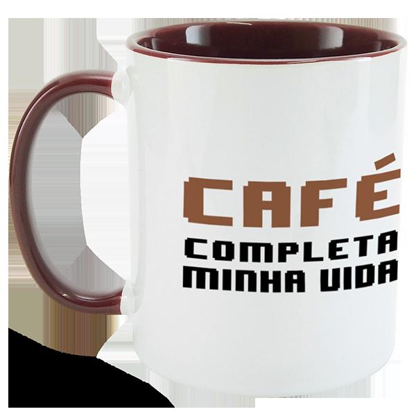 Caneca Café completa minha vida