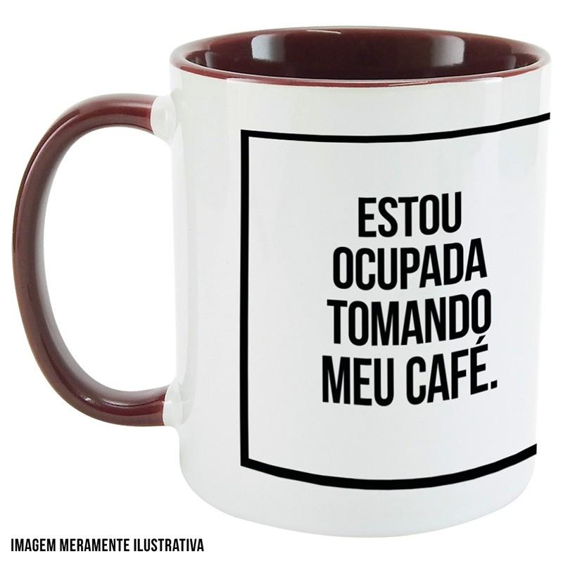 Caneca Estou ocupada tomando café