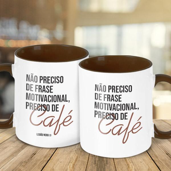 Caneca Preciso de café