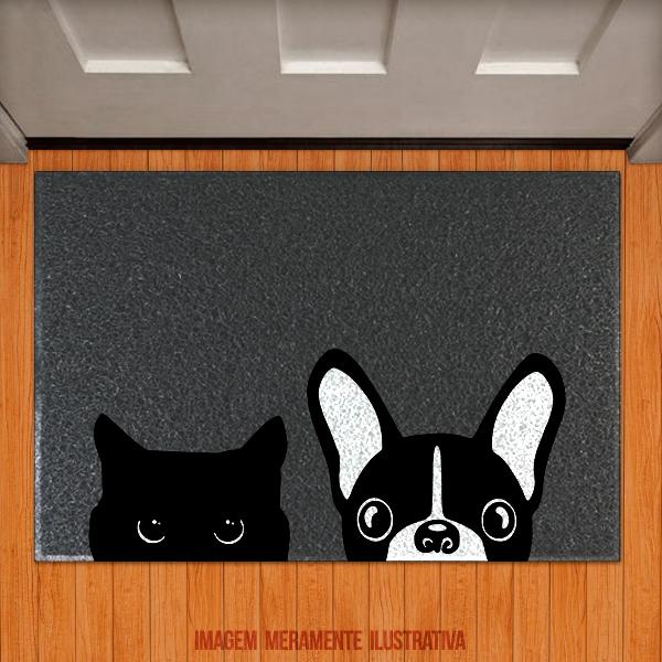 Capacho Gatinho E Cãozinho Meow Woof