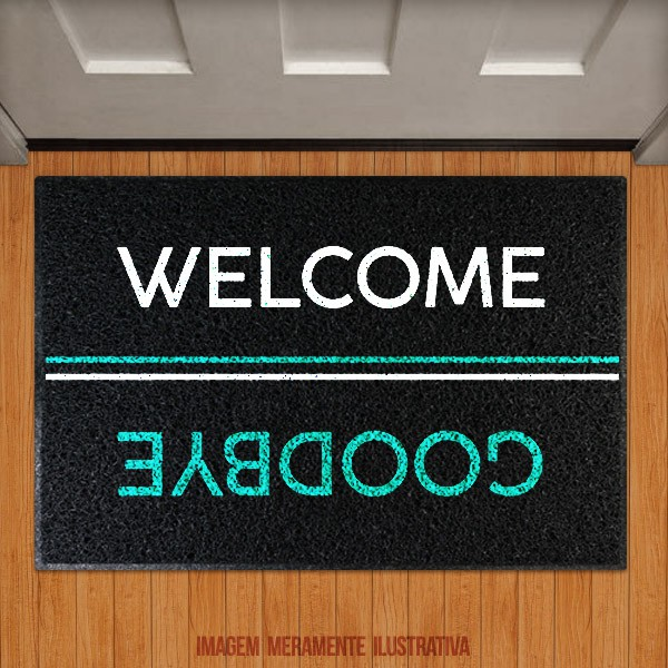 Capacho Welcome Goodbye
