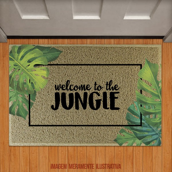 Capacho Welcome to the jungle folhas