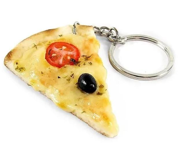 Chaveiro de comida - Pizza de mussarela