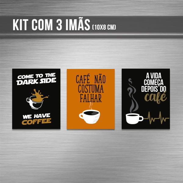 Kit de imãs - Café