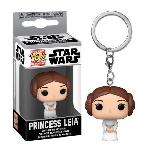Funko POP Chaveiro - Princesa Leia - Star Wars