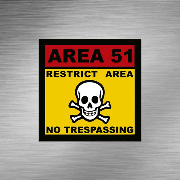 Imã de geladeira - Área 51