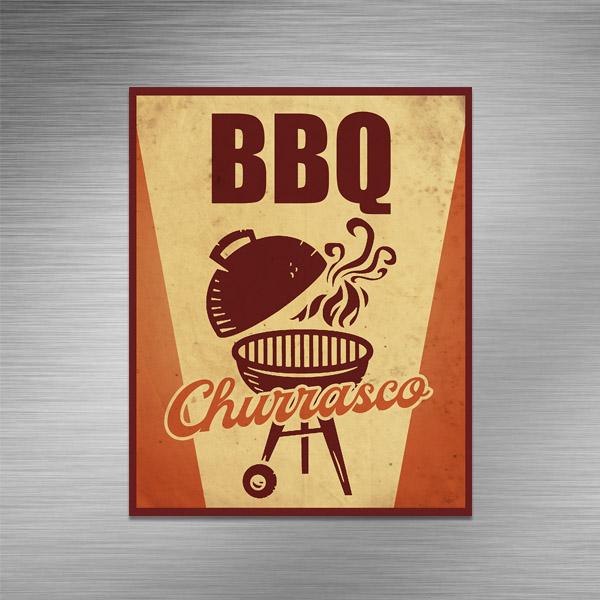 Imã de geladeira - BBQ Churrasco