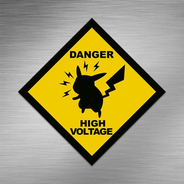 Imã de geladeira - Danger High Voltage