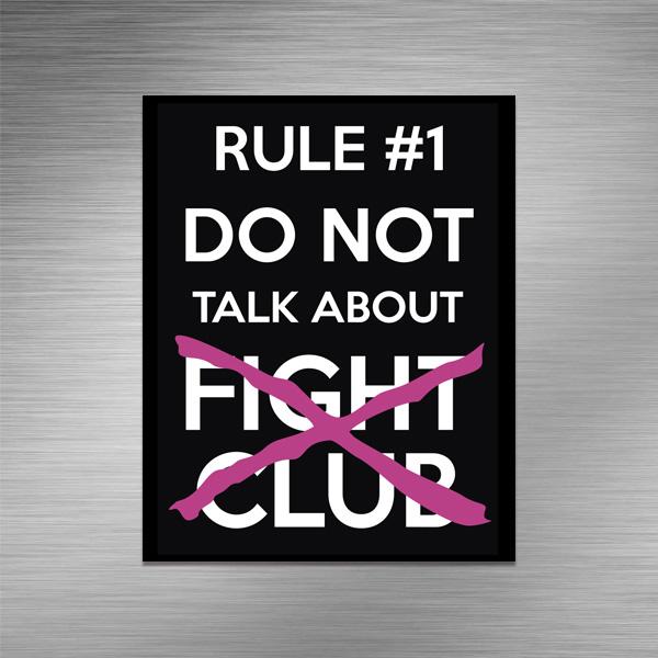 Imã de geladeira - Fight Club