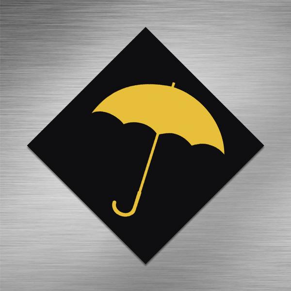 Imã de geladeira - Guarda Chuva Amarelo