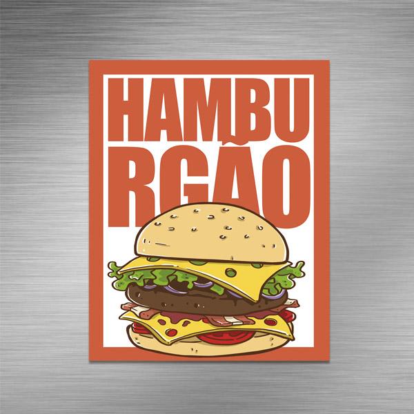 Imã de geladeira - HAMBURGÃO
