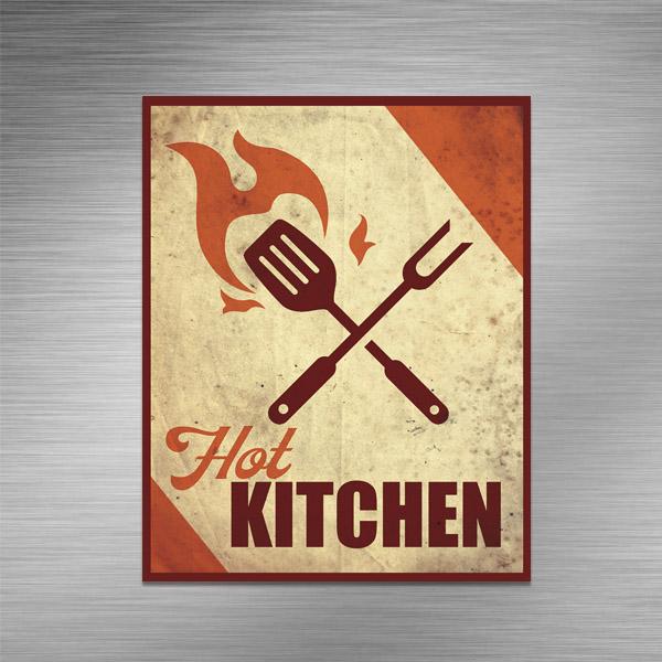 Imã de geladeira - HOT KITCHEN