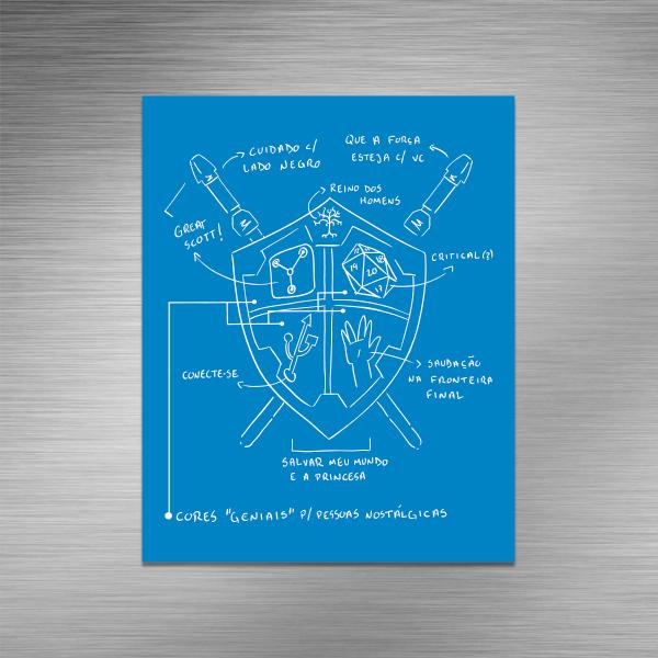 Imã de geladeira - Logo Legião Nerd Blueprint