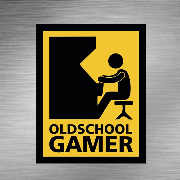 Imã de geladeira - Oldschool Gamer