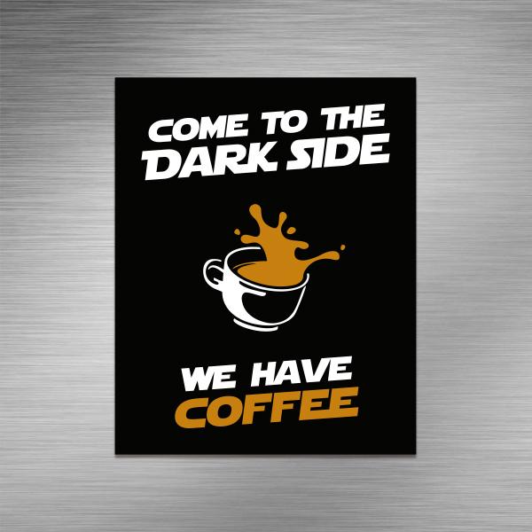 Imã de geladeira - We have coffee
