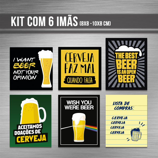 Kit de imãs - Cerveja
