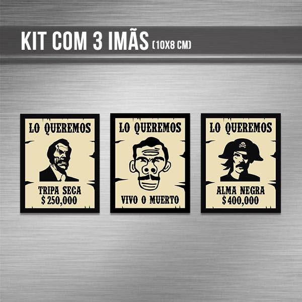 Kit de imãs - Procurados