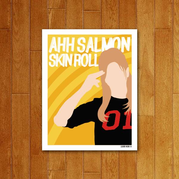 Placa Decorativa Ahh Salmon Skin Roll