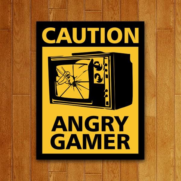 Placa Decorativa Angry Gamer