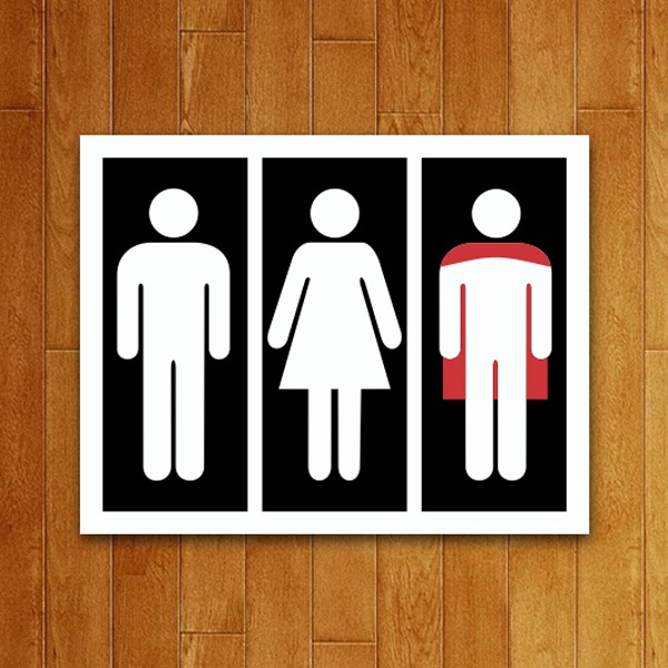 Placa Decorativa Banheiro Herói