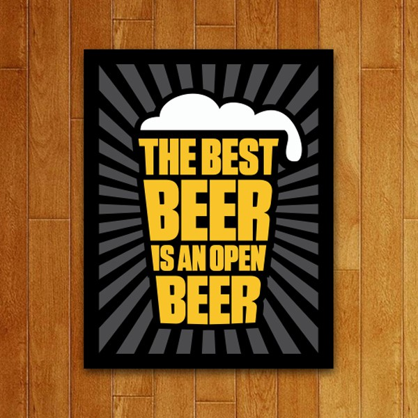 Placa Decorativa Best Beer