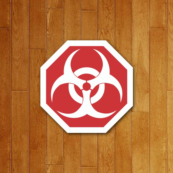 Placa Decorativa Biohazard