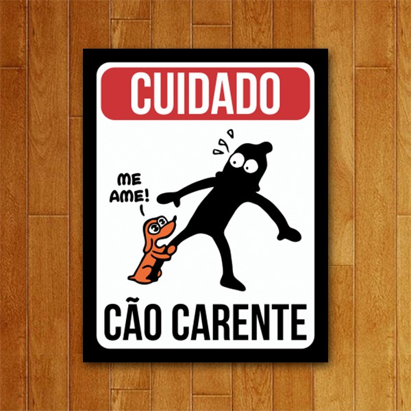 Placa Decorativa Cão carente