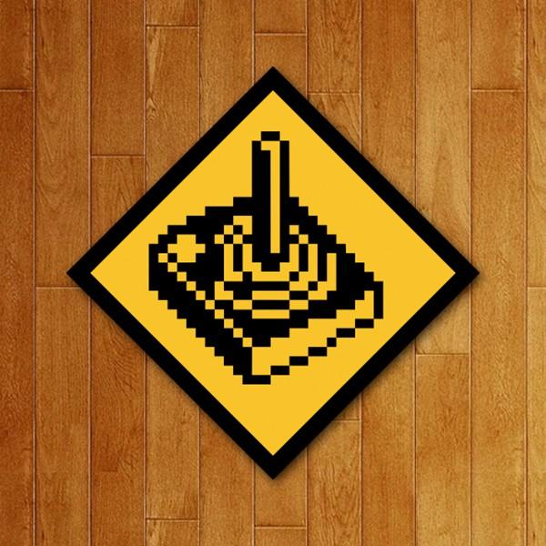 Placa Decorativa Controle 8 bits