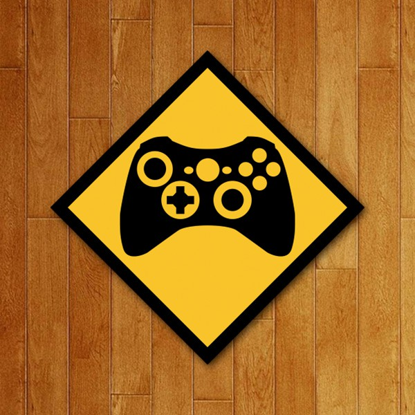 Placa Decorativa Controle XB