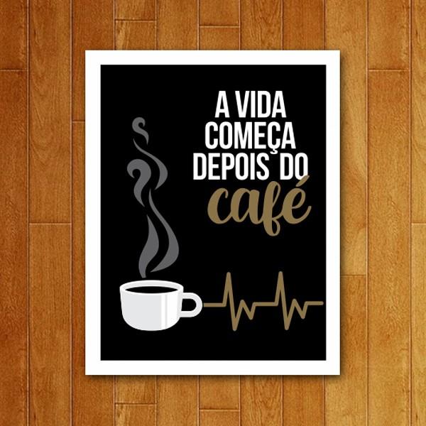 Placa Decorativa Depois do café