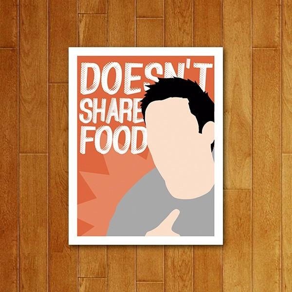 Placa decorativa Doens't share food