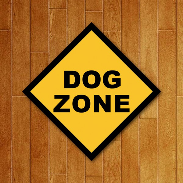 Placa Decorativa Dog Zone